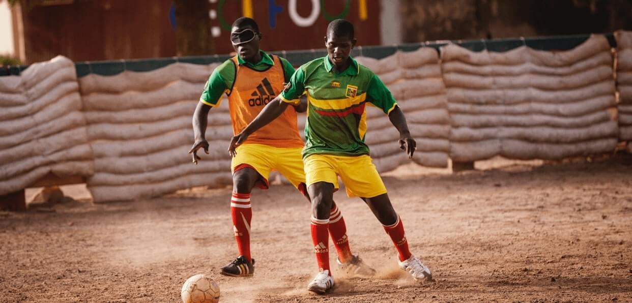 Permettre à des déficients visuels de jouer la coupe d'Afrique cecifoot 2019